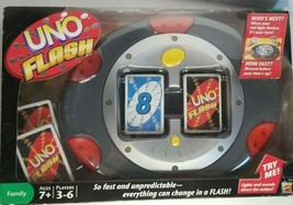 UNO FLASH ELECTRONIC GAME NEW IN BOX RARE 2007 MATTEL SEALED  - $89.09