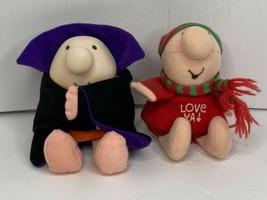 2 Vintage Ziggy Plush Doll Toy Valentine & Halloween Style Vampire Love ... - $12.82