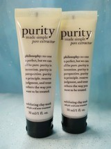 Philosophy Purity Made Simple Pore Extractor Exfoliating Clay Mask 2 X 1 Oz New! - $14.84