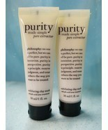 PHILOSOPHY PURITY Made Simple PORE EXTRACTOR Exfoliating Clay Mask 2 x 1... - $14.84