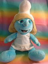 "2011 Build-A-Bear Workshop Smurfs Smurfette 17"" Plush Doll w/ White Dress - $14.80"