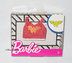 New Barbie Doll Wonder Woman Logo Tank Top for Gift Play or OOAK - $5.00