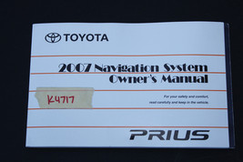 2007 TOYOTA PRIUS OWNER'S AND OPERATOR'S MANUAL BOOK K4717 - $64.35
