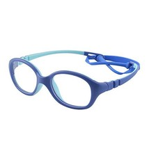 Kids Glasses Frame with Clear Oval Lens Unbreakable Flexible Smart Looks... - $20.67