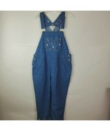 Mandal Bay Womens XXL 2X Blue Denim Overalls Bib Cottagecore Chickens Farm - $49.48