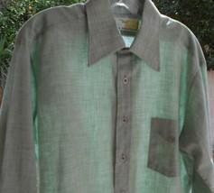 """Van Huesen Dual Dress Sport Men's Green Button-Up Shirt XXL 48"""" CHEST - $9.99"""