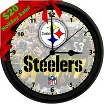 "8"" Steelers Homemade Wall Clock - $19.80"