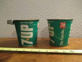7up metal advertising Cups Mugs Decoration The Uncola 2 Piece lot - $23.99