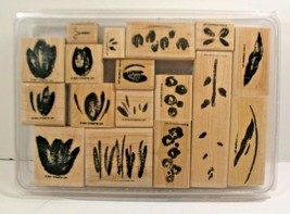 Stampin Up Rubber Stamps 2001-03 Mix Lot Of 13 Ink Spots - $13.09