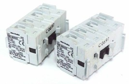 LOT OF 2 ALLEN BRADLEY 195-MA02 AUXILIARY CONTACTS 195MA02, SER. B