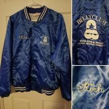 Vintage BillyClub Satin Bomber Jacket Blue Large Hartwell Varsity USA - $48.49