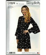 Simplicity Pattern D0974 Misses Classic Dress With Sleeve Variations Szs... - $7.92