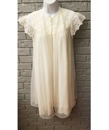 VTG Movie Star Peignoir Small Babydoll Sheer Nylon Chiffon Nightie Lace - $19.79
