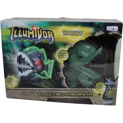 Illumivor Electro-Piranha (Age: 6 - 9 years)(Life Size - 8 Inches From Teeth to