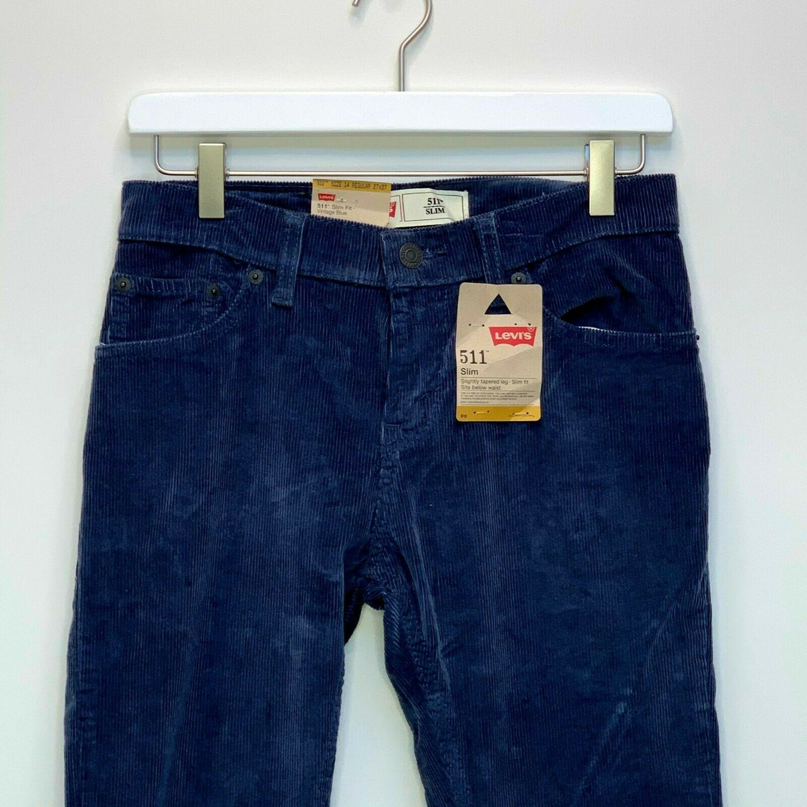 Primary image for Levi's 511 Boys Slim Fit Blue Corduroys Size 14