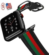 for Apple Watch Band Gucci Iwatch Silicone 38mm 40mm Series 2 3 4 Mens Man - $24.46