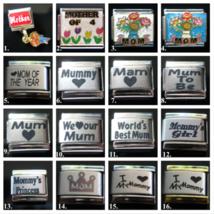 Best Mom Mum Mam Mother Italian bracelet Charm link Classic 9mm sz 16 designs! - $3.47