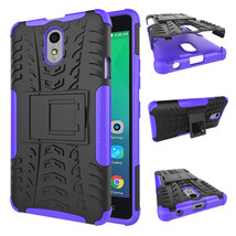 Protection Rugged Dual Layer Hybrid Shockproof Case For Lenovo P1M - Pur... - $100,87 MXN