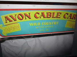 AVON CERAMIC VINTAGE CABLE CAR  WILD  COUNTRY  AFTER  SHAVE For Collection. - $9.89
