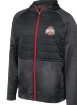 Men's Ohio State Buckeyes Infusion Jacket Full Zip Crossdye Hoodie with Quilting