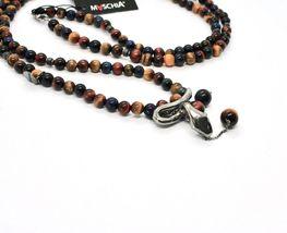 Silberkette 925 mit Schlange und Tigerauge Made in Italien By Maschia image 4