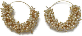 Ea e261 Bollywood Fashion Pearls Golden Earring Set. Indian Party wear J... - $12.49