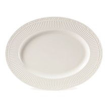 Mikasa® - Italian Countryside 15 Inch Oval Platter White Solid Stoneware New - $84.50