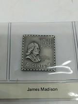 sterling silver James Madison presidential stamp ingot  - $23.20
