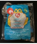 TY Teenie Beanie #5 - 1999 McDonald's - Rocket the Blue Jay Bird Retired - $2.22