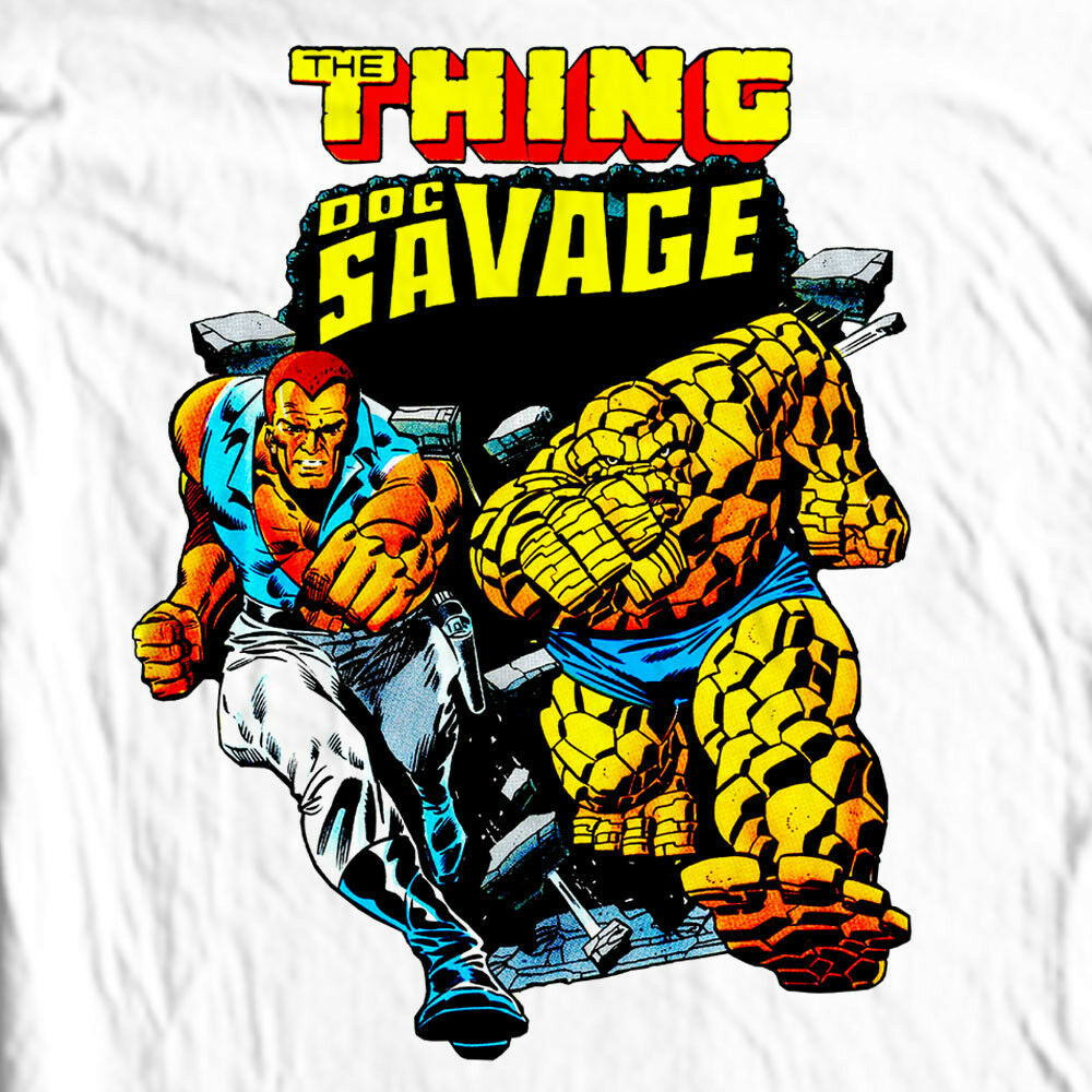 Doc Savage T-shirt Silver Age retro vintage 70s comic books cotton graphic tee