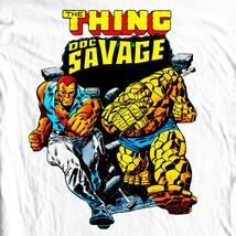 Doc Savage T-shirt Silver Age retro vintage 70's comic books cotton graphic tee image 1