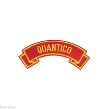 MARINE CORPS QUANTICO MILITARY EMBROIDERED USMC RED SHOULDER ROCKER PATCH - $17.14