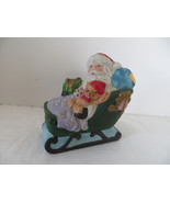 Vintage Christmas Ceramic Santa in Sleigh Figure - $8.59