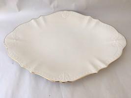 """Beautiful Lenox Ivory & Gold Shell & Scalloped Edge 15 1/2"""" X 10 3/4"""" - $65.00"""