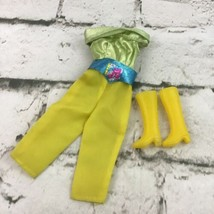 Vintage Barbie Fashion Doll Clothes Pop Star Outfit Pantsuit With Yellow... - $11.88