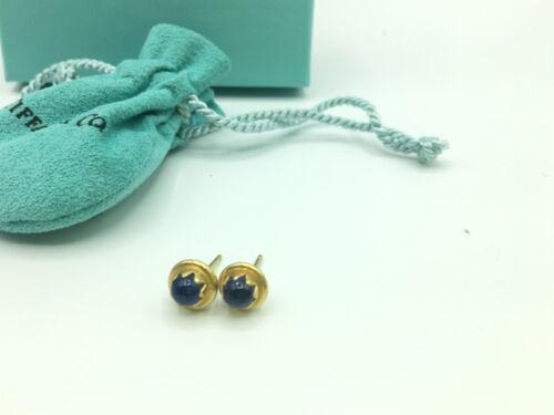 Vintage Tiffany & Co 18K Yellow Gold Star Sapphire Stud Earrings 3.2g
