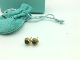 Vintage Tiffany & Co 18K Yellow Gold Star Sapphire Stud Earrings 3.2g image 1