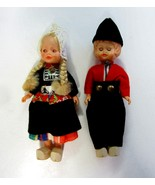 """Vintage Dutch Boy & Girl Dolls - Couple in National Costume of Holland - 6"""" - $12.99"""