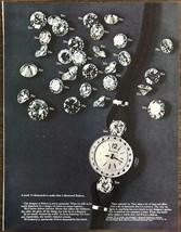 1968 Bulova Ladies Wristwatch PRINT AD It Took 31 Diamonds to Make This - $11.89