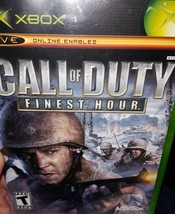 Call of Duty: Finest Hour (Microsoft Xbox, 2004) Complete Disc With Manual - $9.46