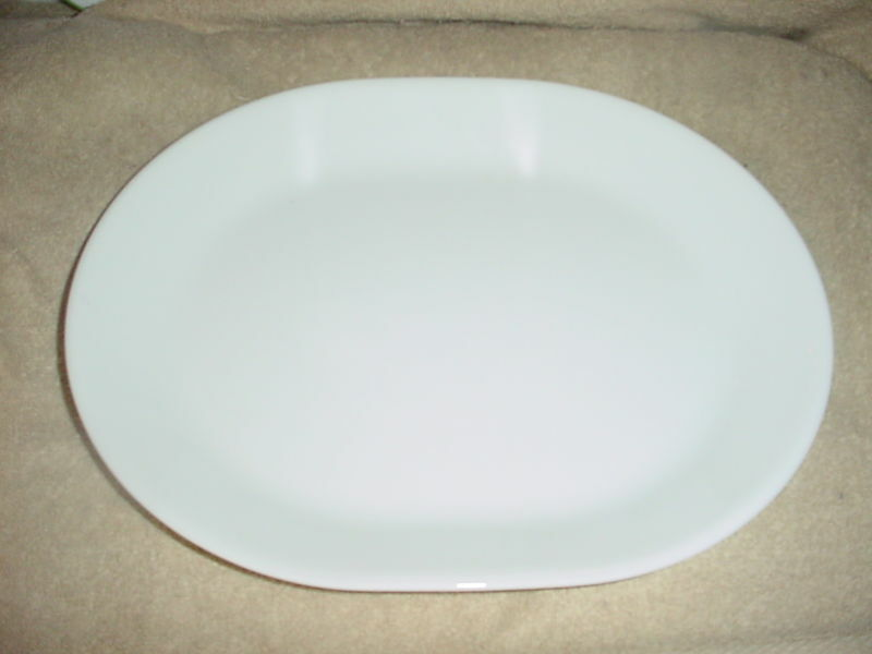 Primary image for CORELLE WINTER FROST WHITE OVAL SERVING PLATTER NEW FREE USA SHIPPING
