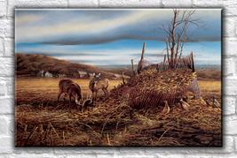 Animal illustration Art oil painting printed on canvas home decor Bounty - $14.99