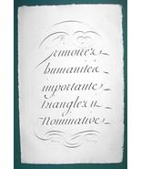 "1826 PENMANSHIP Calligraphy Italics - 12"" x 18"" (30 x 46 cm) Superb Prin... - $30.34"