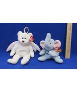 TY Beanie Babies Plush Original Stuffed Animal 1995 Peanut 1998 Halo Lot... - $12.22