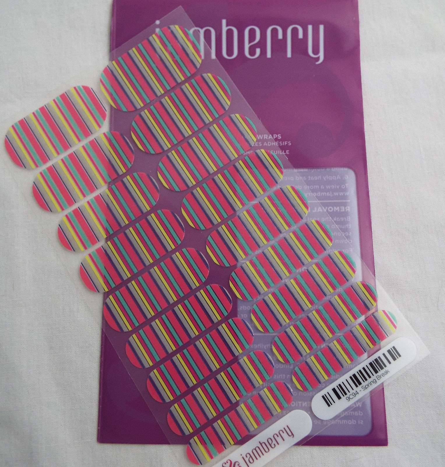 Primary image for Jamberry Spring Break 9C94 Nail Wrap  (Full Sheet )  New