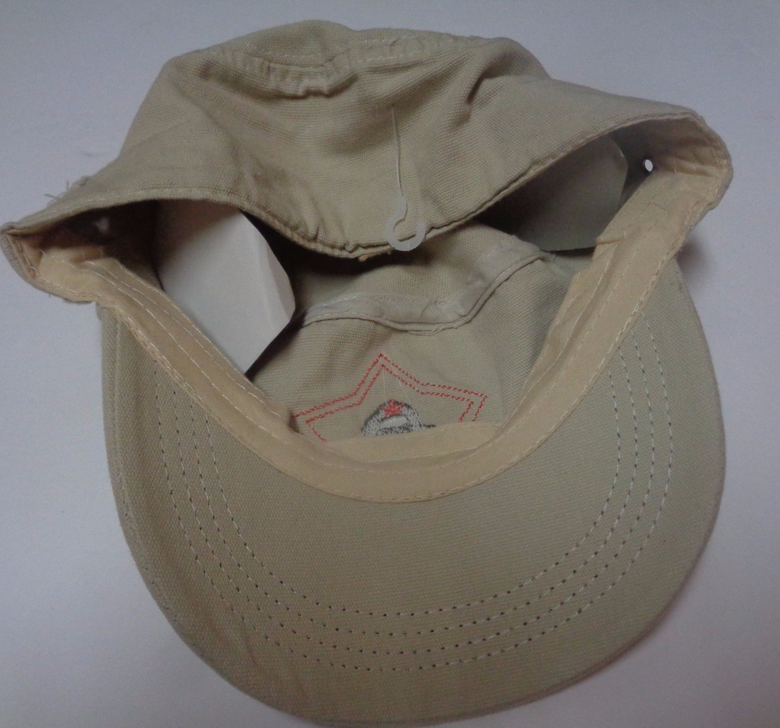 Che Guevara Red Star Distressed Hat Light Khaki Beige NWT Adult Size Revolution
