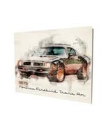 1975 Pontiac Firebird Trans Am Black Design 16x20 Aluminum Wall Art - $59.35