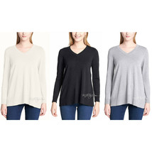 NWT DKNY Jeans Super Soft Women Lightweight Pullover V-Neck Tunic Sweater Size S - $24.99