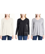 NWT DKNY Jeans Super Soft Women Lightweight Pullover V-Neck Tunic Sweate... - $24.99