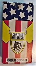 Vintage CAPTAIN AMERICA RACER GOGGLE US Ski Team by Norski NOS - $75.00